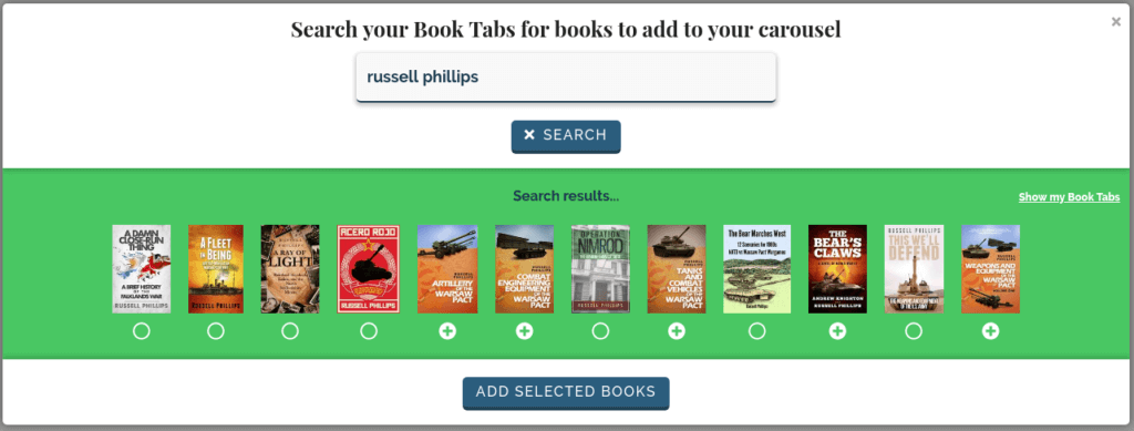 Adding books to a reading list carousel