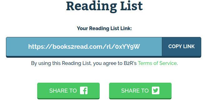 Reading list link
