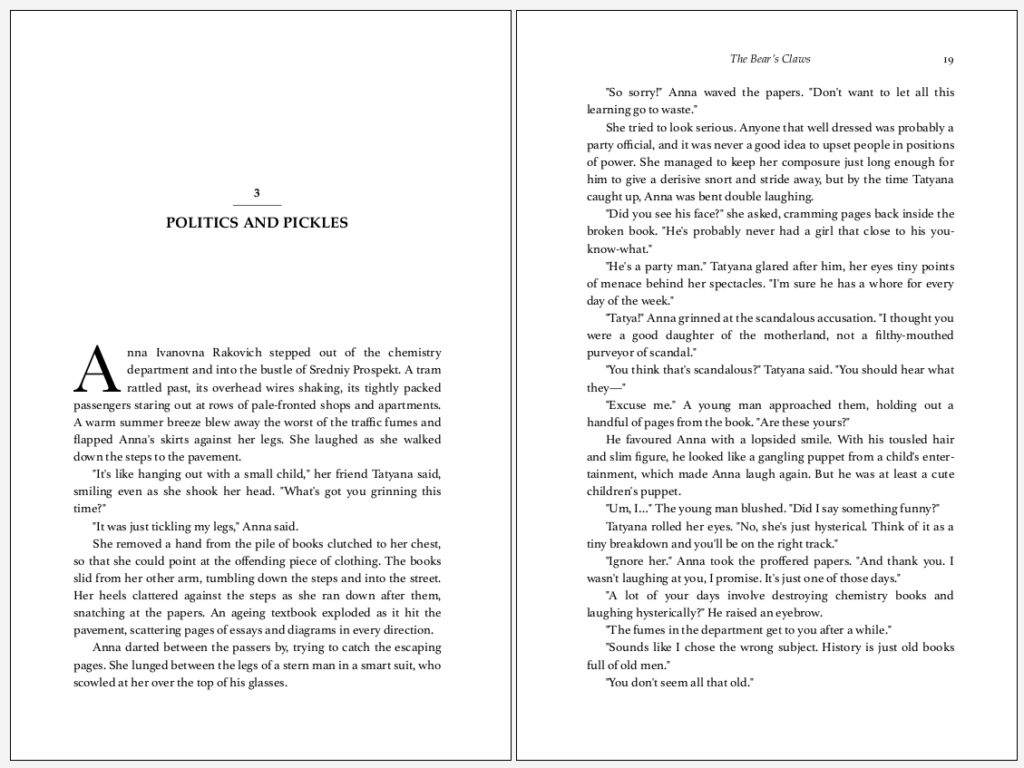 A book interior, showing a chapter start.